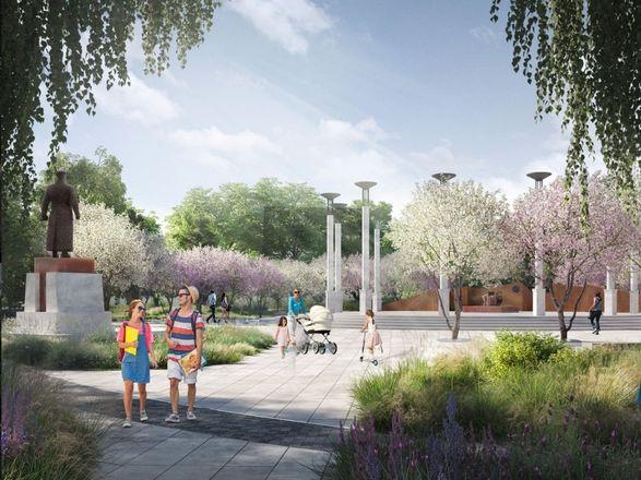 Детская площадка в виде холмов и подсветка деревьев появятся на площади Маршала Жукова - фото 3