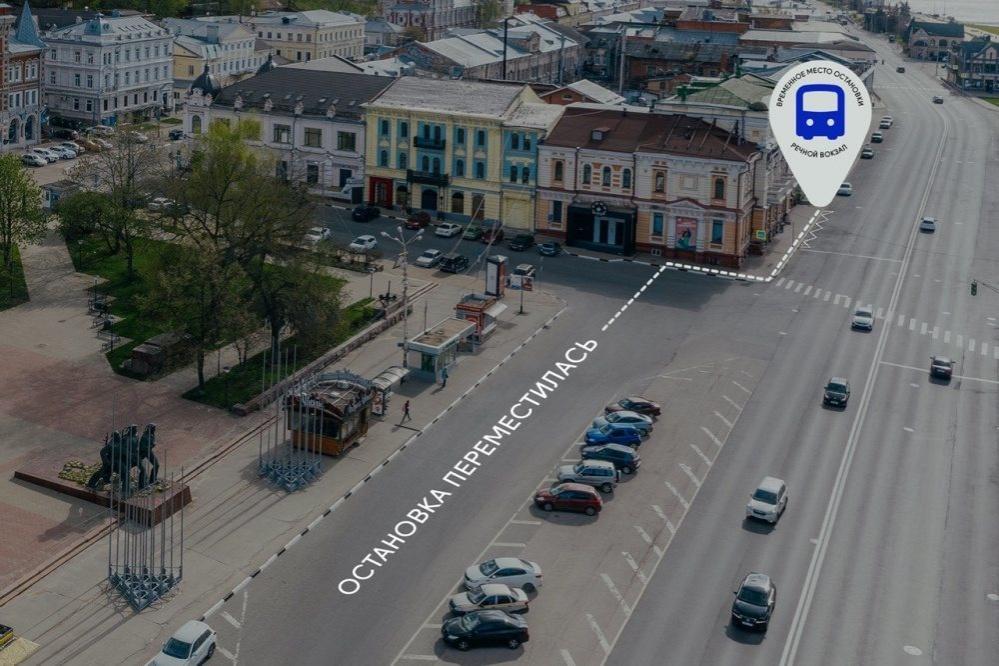 Остановка «Речной вокзал» временно переместилась с площади Маркина - фото 1