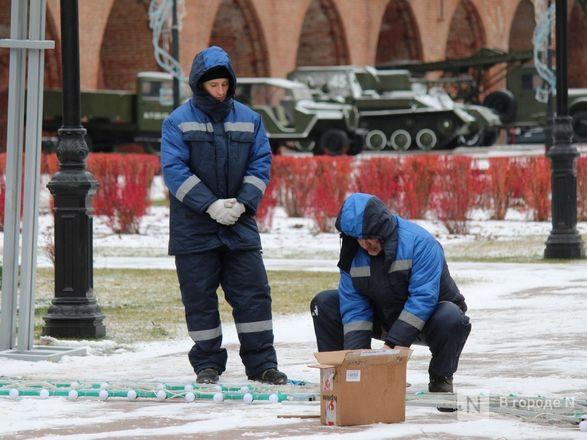 Нижегородский кремль начали украшать к Новому году - фото 10