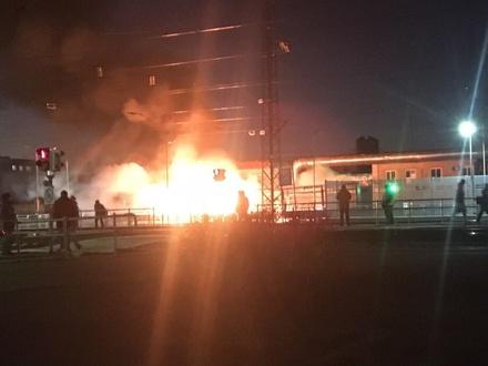 Фура вспыхнула в Дзержинске: водитель госпитализирован