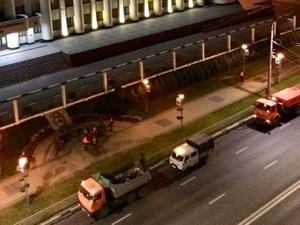 Мемориал в память об Ирине Славиной у здания нижегородского МВД зачистили