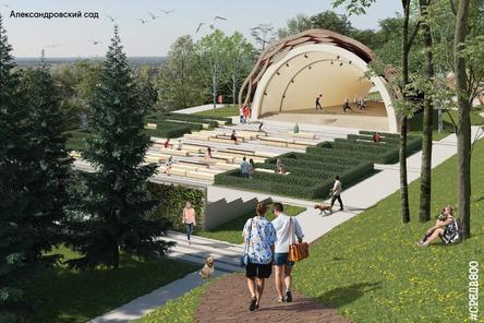 Благоустройство Александровского сада в Нижнем Новгороде продлится до конца сентября