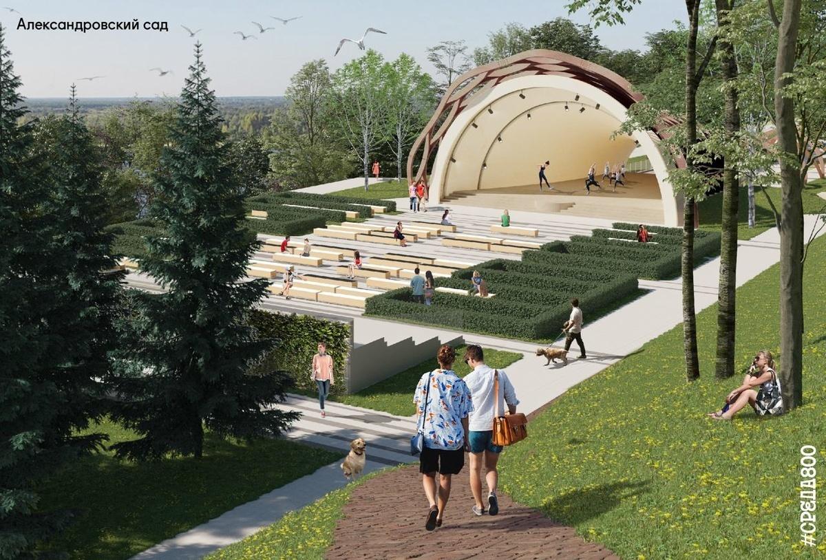Благоустройство Александровского сада в Нижнем Новгороде продлится до конца сентября - фото 1