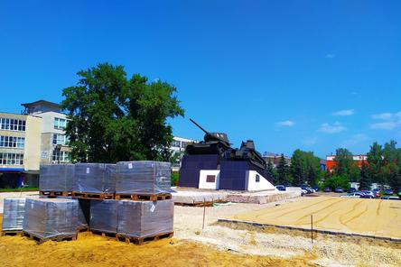 Старое покрытие на площади Славы в Сормове демонтировано на 90%