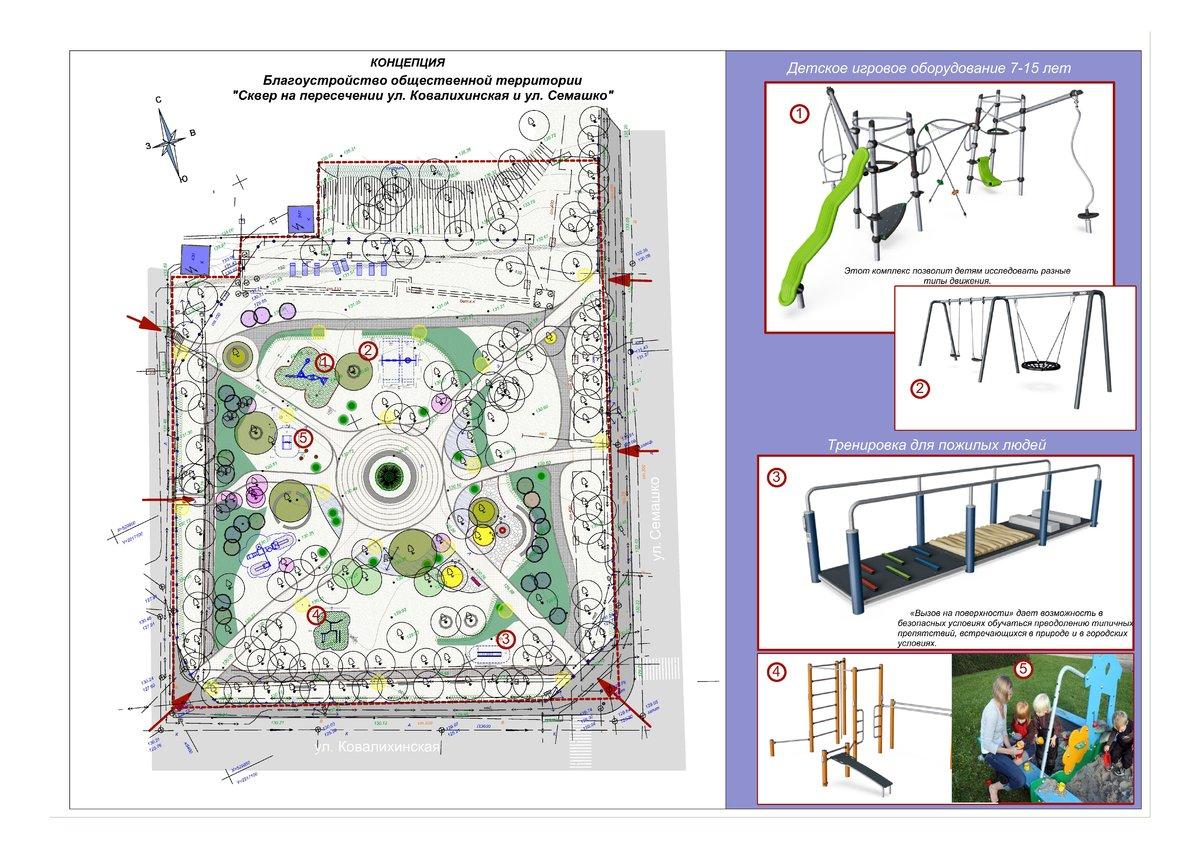 Без амфитеатра, но с детскими площадками: концепцию благоустройства Ковалихинского сквера утвердили нижегородцы - фото 2