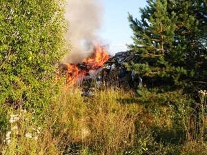 В Воскресенском районе загорелась свалка (ФОТО)