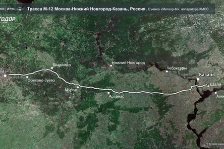 Новую трассу, проходящую через Нижегородскую область, уже видно из космоса