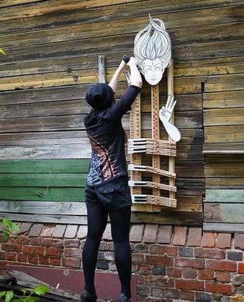 Нижегородская художница создала «Тишину» на стене заброшенного дома - фото 3