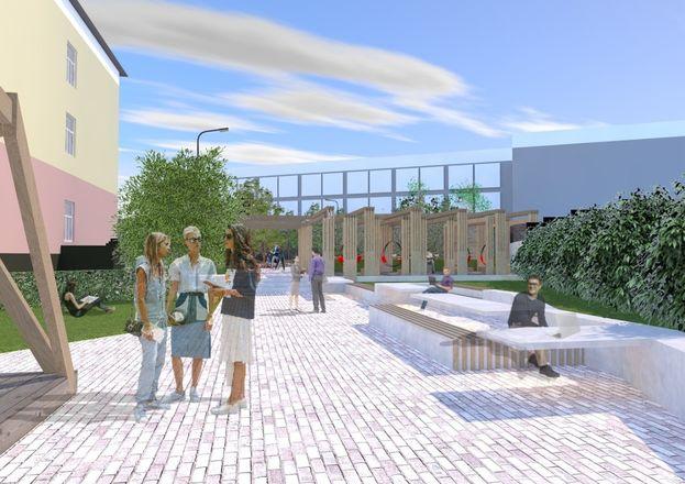 Универсальная спортплощадка с ворк-аут зоной и зоной для отдыха появится во дворе Мининского университета.  - фото 3
